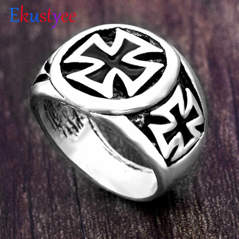 Vintage Cross Ring for Men  New Fashion Gothic Punk Men Ring  Christian Jewelry Dropshopping