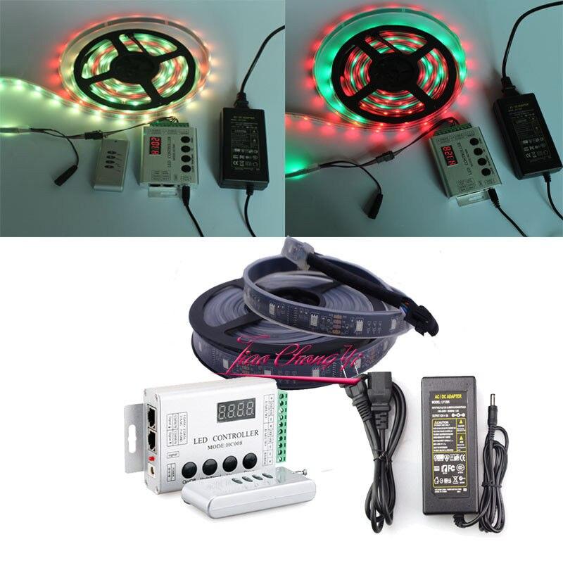 5 M 150 LED 6803 LED Bande avec Contrôleur de Couleur de Rêve avec 12 V 5A alimentation LED