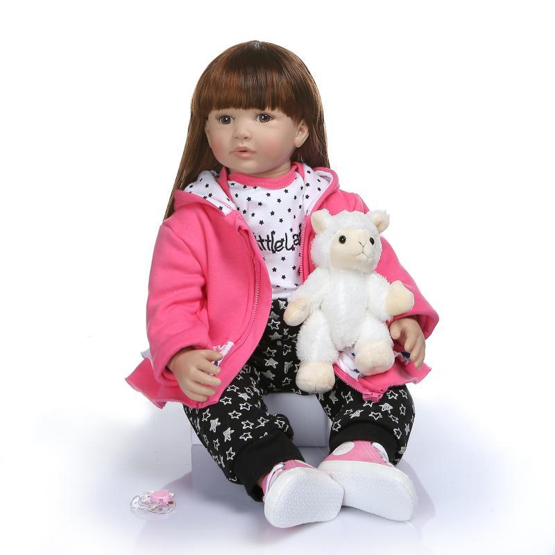 3/4 Silicone reborn poupée 60cm bebe reborn poupées vivant bambin jumeau poupée Bonecas jouets réaliste tissu corps garçon ou fille jouet cadeaux