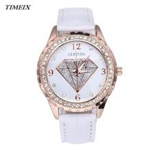Hot Sale Women's Watch Diamond Pattern Leather Band Watch Rhinestone Crystal Analog Quartz Wrist Watch Wristwatch Female *50