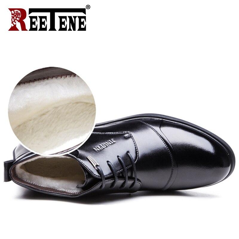 Quentes Pretos Pele Boots 37 Homens Sapatos Inverno Ankle Couro Se Botas Vestem Size 48 Genuíno De Plus Black Reetene 7TwqP6P