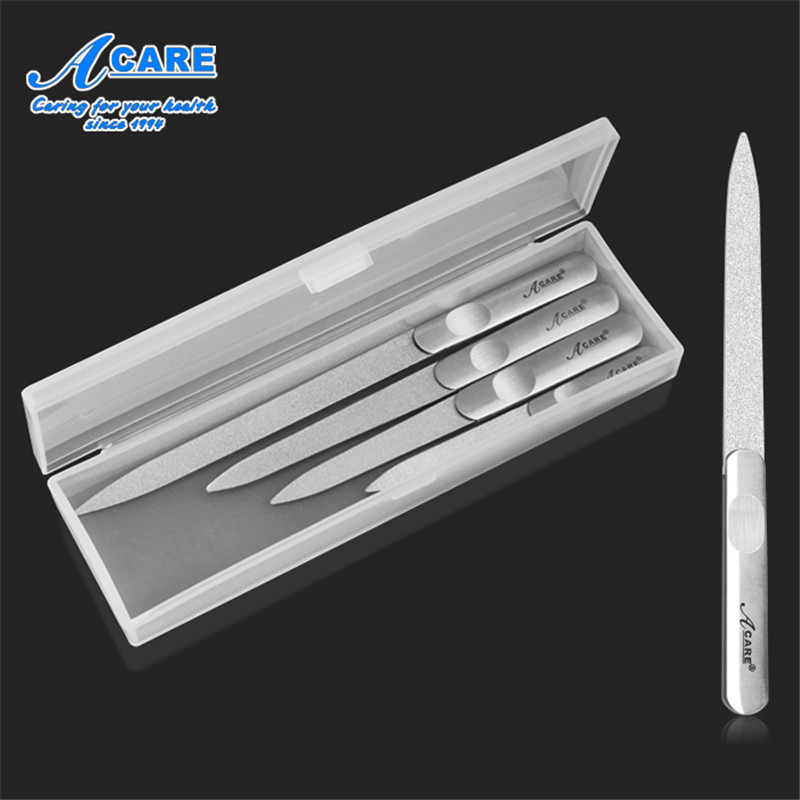 Nail File Professional Stainless Steel Set Buffer Double Side Grinding Manicure Pedicure Scrub Nail Arts Tools Grind Women bgd202 1 stainless steel double side wet film applicator have other spec for your choice