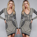 New Women Ladies Sexy Long Sleeve Bodycon Bandage Dress Evening Club Party Mini Dresses