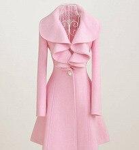 Woman Woolen Jacket Fall and Winter Women Coat ladies Long coats