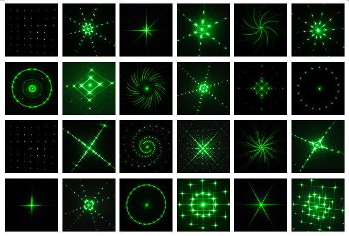 Efeito de Iluminação de Palco laser 24 padrões projetor efeito rf Remote Controller : Sensing Range Within 50ft