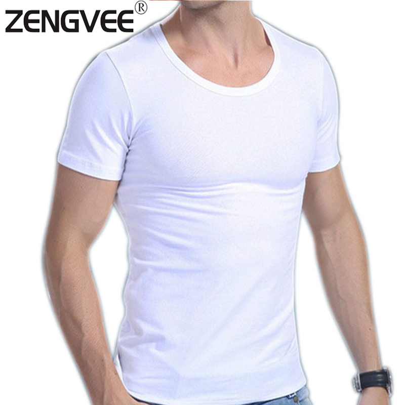 Quality Men Cotton White Undershirts Soft Comfortable V neck or O neck for Choiece Size M