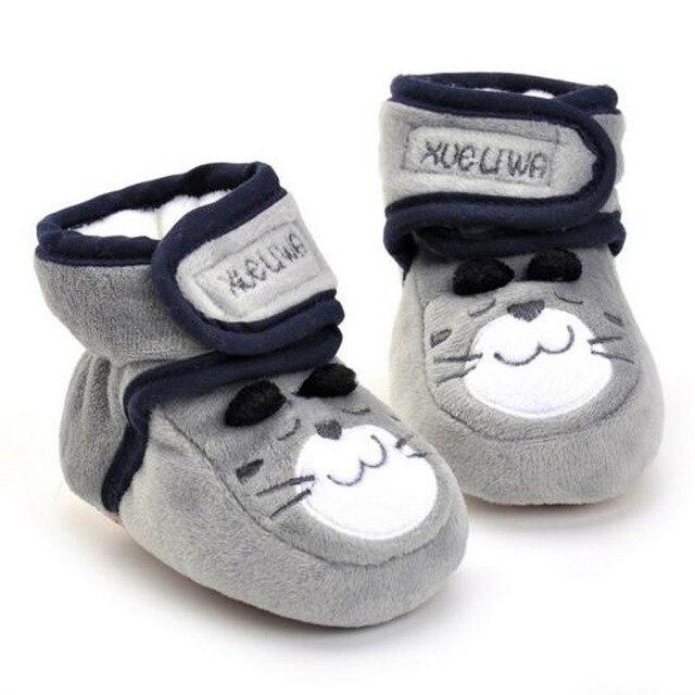 3ea5523aeed De Dibujos Animados lindo Bebé Caminante Cálida Lana de Invierno Botas de  Bebé Recién Nacido Niños