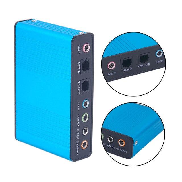 Внешний USB звуковой карты канал 5,1 7,1 оптический адаптер звуковой карты для ПК компьютера ноутбука горячий новый профессиональный