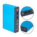 Hot New USB Placa de Som Externa Profissional Canal 5.1 7.1 Áudio Óptico Adaptador de Cartão para PC Computador Portátil Por Atacado