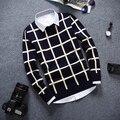 Завод прямые продажи aliexpress 2016 Весна осень новый Молодежный Мужчины мода повседневная Тонкий Хеджирования вязать свитер дешевые оптовые