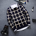 Venta directa de fábrica de aliexpress 2016 del otoño del Resorte nuevos Hombres Jóvenes moda casual Delgado de Cobertura suéter de punto barato al por mayor