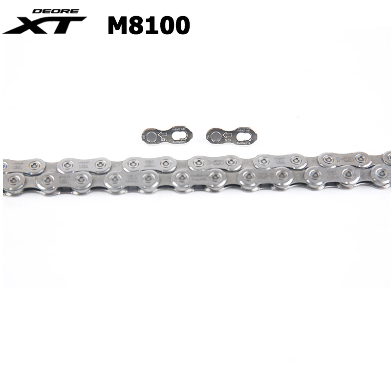 NEW <font><b>Shimano</b></font> <font><b>XT</b></font> CN <font><b>M8100</b></font> Chain 1x12 12 Speed MTB Bicycle Chain 124 Links with Quick Link Bicycle Chain image