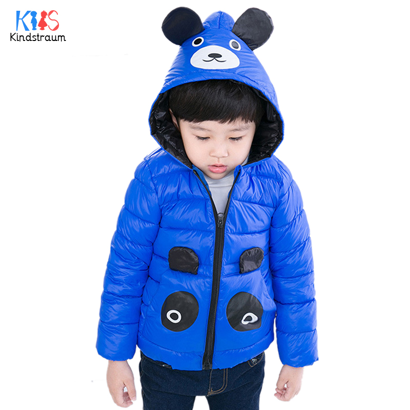 Kindstraum 2017 Winter Kids Cartoon Down Clothes High Quality Children Pockets Hooded Coats Thick Wear for Girls,RC1573 mmc brand children s winter thick warm brief style gradient splice high quality hooded down coats for girls 90