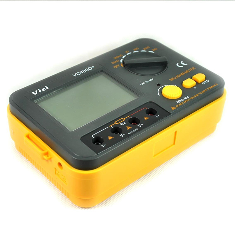 LIXF-Vici Vc480c+ 3 1/2 Accuracy + 4 Wire Test Multimeter Digital Milli-ohm Meter vc480c 3 1 2 digital milli ohm meter multimeter with 4 wire test accuracy backlight vici with high quality