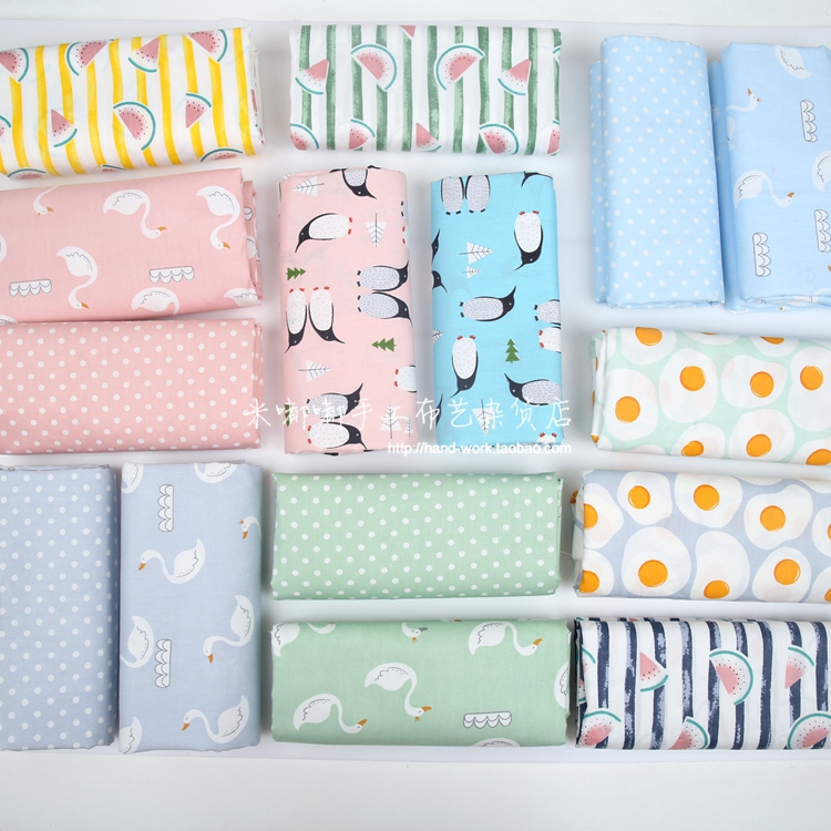 New 160cm X 50cm Swan penguin watermelon egg Twill Cotton Fabric Flesh Cloth Diy Make Cl ...