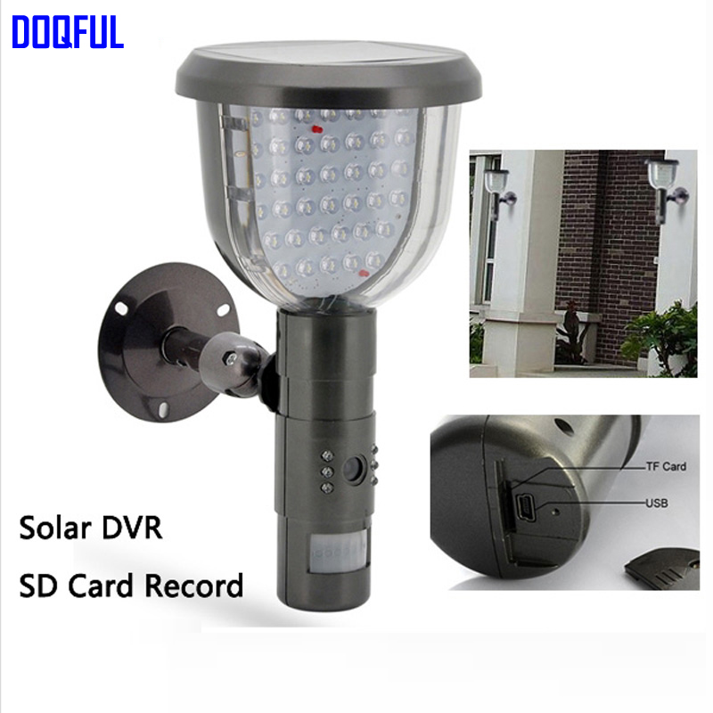 New Solar DVR Security Camera With 16GB SD Card PIR Motion Detection Video Recording 39 White LED Waterproof CCTV Surveillance k808 4gb records 20h waterproof cctv security camera dvr pir video record camera intellgent sd card cctv camera motion detected