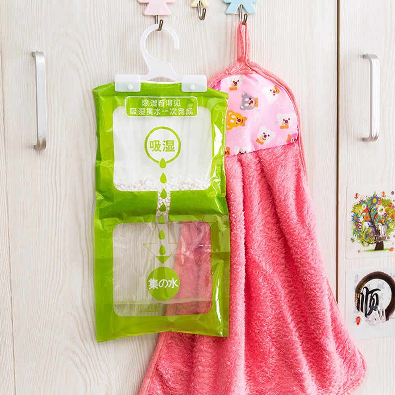 Household Drying Dehumidifier 1pcs Wardrobe Absorbent Bag Family Use Hanging Drying Agent Dehumidifier Bags  Room Accessories