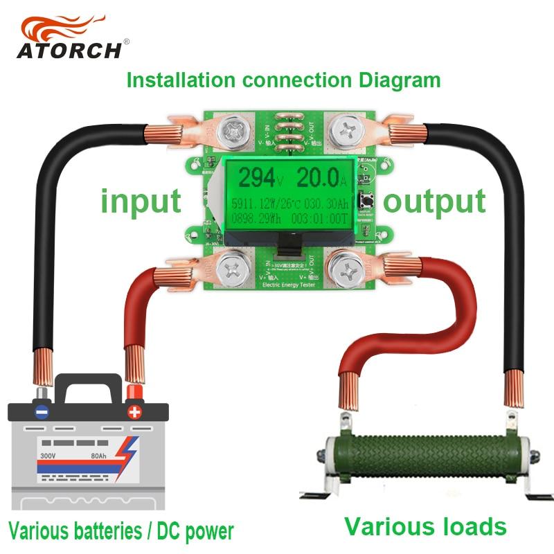 ATORCH Tiksli energijos skaitiklio įtampa Srovės galia DC 300 V / - Matavimo prietaisai - Nuotrauka 3