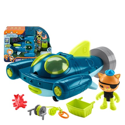 Free shiping original Octonauts GUP-Q and Kwazii vehicle under sea explorer  vehicle  action figure toy child Toys original octonauts octonauts marine animals creatures figures toy sea turtle urchin white tip shark child toys minifigures