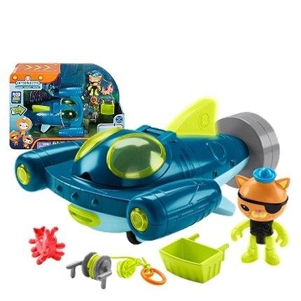 Spedizione gratuita originale Octonauts GUP Q e Kwazii veicolo in mare explorer veicolo action figure giocattolo bambino Giocattoli