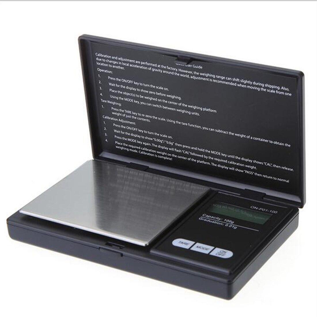 Praktische Tragbare LCD-Display Elektronische Digital Skala Precision Schmuck Tasche Waagen Wiegen Waagen Clamshell