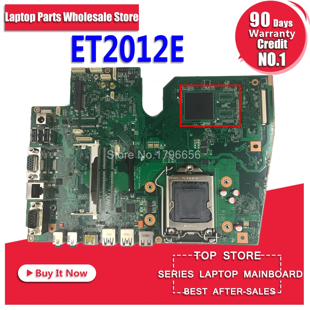 Original laptop motherboard for ASUS ET2012E ET2012A Rev:2.00G Mainboard Board fully Tested Motherboard original for asus et2400x motherboard mainboard rev 1 3 with n11e gs a1 100