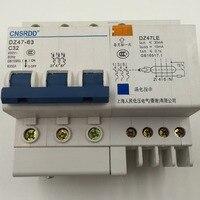 DZ47 63 DZ47LE 32A 400VAC 6000A 3 Pole Mini ELCB Earth Leakage Circuit Breaker