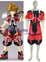 Anime Kingdom Hearts 2 Sora Brave Form cosplay costume for Halloween Cosplay parties Sora Red Summer Clothing