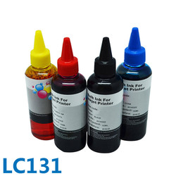 4 flessen * 100ML Hot Selling Optioneel Kleur Voor Brother LC131 Bulk Dye Printer Inkt Voor Brother DCP-J152W/ j552W/J752W/J172W
