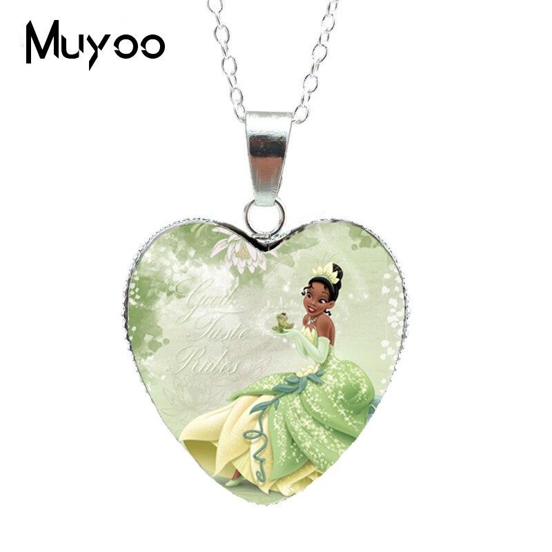 Новая модная красивая серебряная подвеска в виде сердца для принцессы Эльзы, Снежной королевы, ожерелье, ювелирное изделие, подарок для девочки HZ3 - Окраска металла: 4