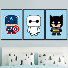 Cartoon Character Wall Art Canvas Painting Nordic Posters And Prints Pictures Kids Room Decor