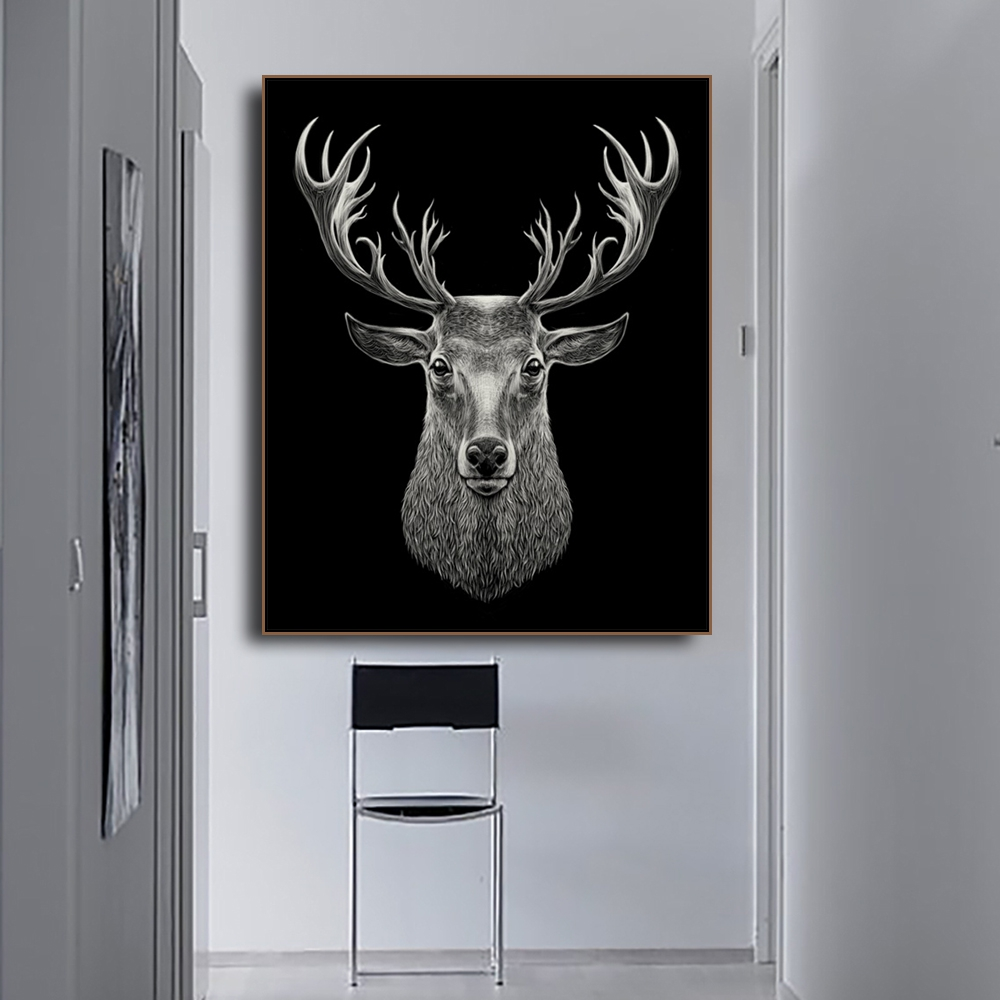 Elk Photography Animals Print on Canvas Home Decoration Wall Art Oil Painting Pictures Postesrs for Living Room Bedroom