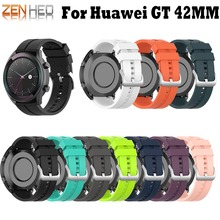 Sport Silicone Wrist Strap for Huawei Smart Watch GT Elegant Band 42mm Wristband
