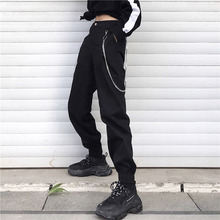 IdoneIT Autumn Korea harajuku BF Women's Clothing Full Length Cargo Pants loose