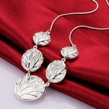 925 Jewelry Silver Color Necklaces Pendants The Tree Of Life Collares Pop Sand Round New Simple Necklace Totem Religion