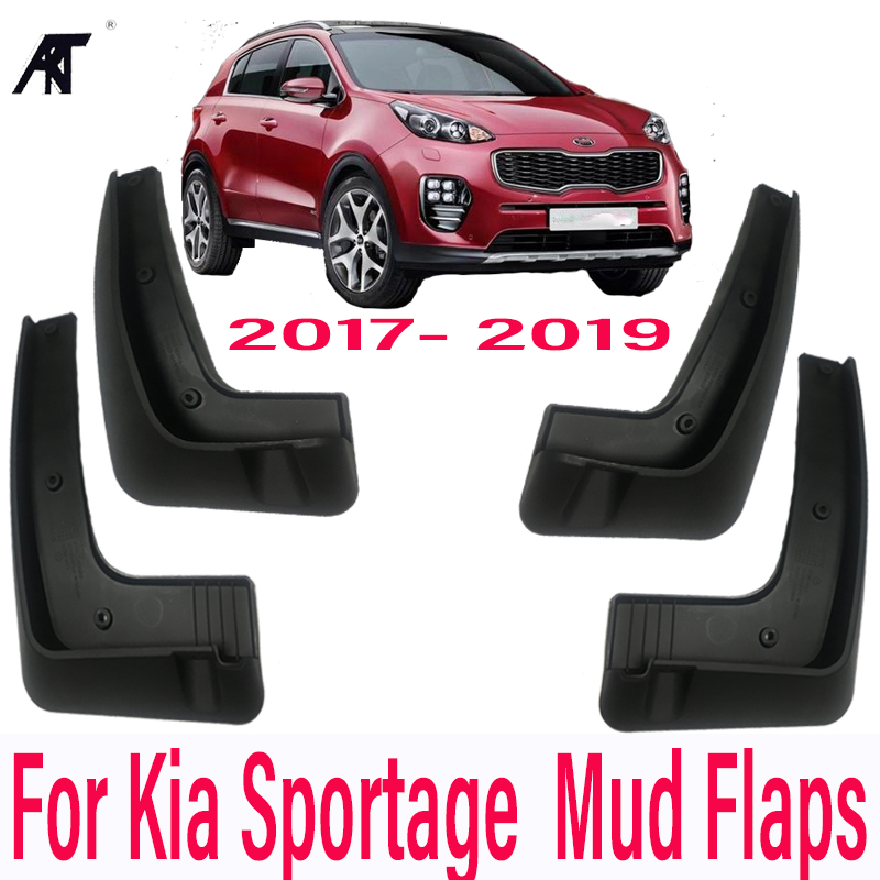 Mud Flap Flaps Splash Guard Per For Kia Sportage 17 19 Kx5 Mudguards Front Rear Fender Molded Without Running Board Mudflaps In From