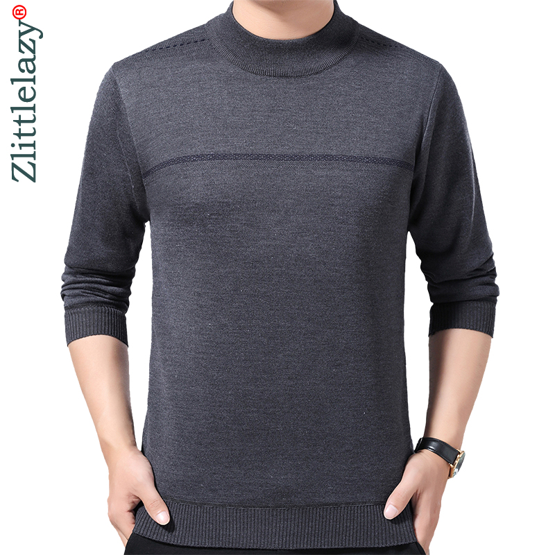 2019 Male Casual Christmas Autumn Winter Warm Pullover Men Sweater Dress Thick Knitted Men's Jersey Striped Sweaters Mens 41201