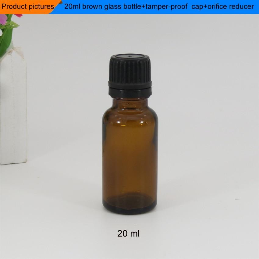 Sample Order Amber Color Dropper Bottle 20ml Essential Oil