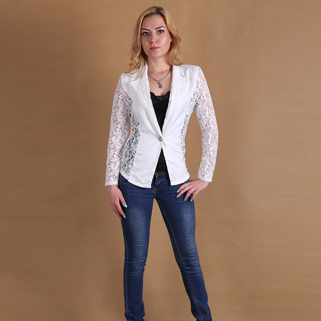 Новый женский жакет 2015 полная куртки для женщин тонкий куртка из одной кнопки пальто женщин формальные куртка женщина возглавляет