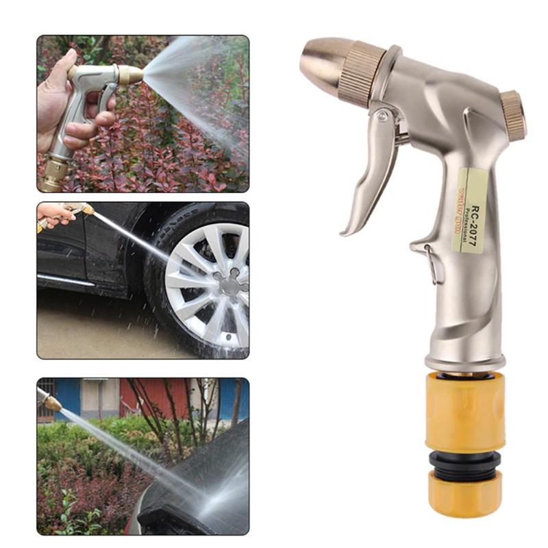 Zinc Alloy Water Spray Gun Car Washing Home Garden Water Sprayer with Hose Adapter Car Washer Wash Maintenance High Quality