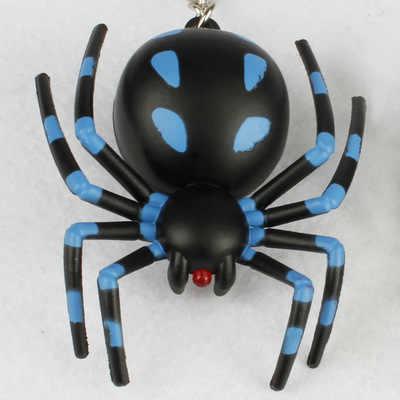 Aranha de Halloween Brinquedo Engraçado Chaveiro EMISSOR de Luz Luminosa Anel chave de Som Vocal e Sedento de sangue Aranha Bonito Pingente de Acessórios Presentes