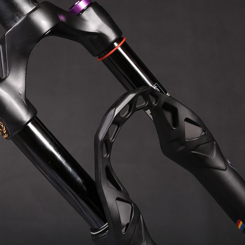 Велосипедная вилка MTB Высокое качество 26 27,5 29 дюймов 9 мм 15 мм конусная трубка черная трубка Демпфирование воздушная вилка горный велосипед