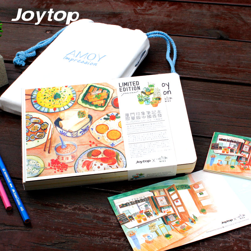 Joytop Notebook Xiamen Amoy Impression Sketchbook A5 Free Illustration Hardcover Limited Edition  by Watercolor & Dry Pigment haruki murakami journey hardcover chinese edition