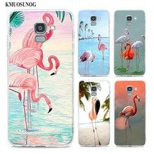 цена на Transparent Soft Silicone Phone Case Pink Flamingo Tropical Flamingo For Samsung Galaxy j8 j7 j6 j5 j4 j3 Plus 2018 2017 Prime