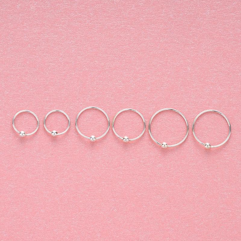 2020 haut à la mode 925 bague en argent sterling femmes boucle doreille caractère joker cerceau piercing nez anneaux petit pur frais bijoux fête