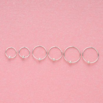 2020 Top Fashion 925 Sterling Sliver Ring Women Earring Character Joker Hoop Piercing Nose Rings Small Pure Fresh Jewelry Party