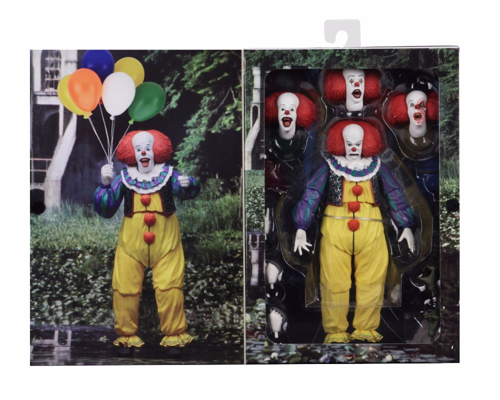 NECA IT Pennywise 1990 Stephen King It Clown Action Figure Collection Model Toys For Halloween Decoration Gift (2)