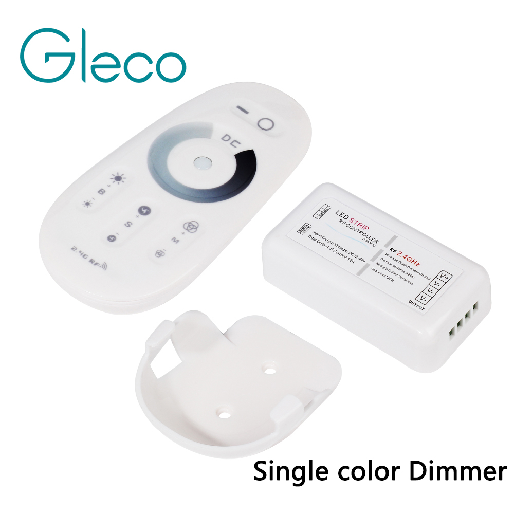 DC12V-Max 12A RF 2.4G Dimmer Led Strip Controller Wireless tocco A Distanza Con Telecomando Supporto Da Parete per la Striscia PRINCIPALE 5050