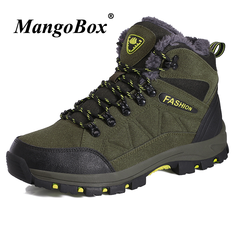 Couples Boots Winter Mens Boots Casual Dark Gray Purple Male Tactical Outdoor Shoes Rubber Bottom Shoes High Top Anti-slip Boots
