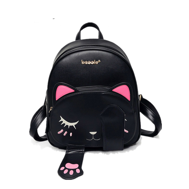 2017 new fashion korean style women 39 s backpack pu leather school backpack shoulders bag cute Korean style fashion girl bag